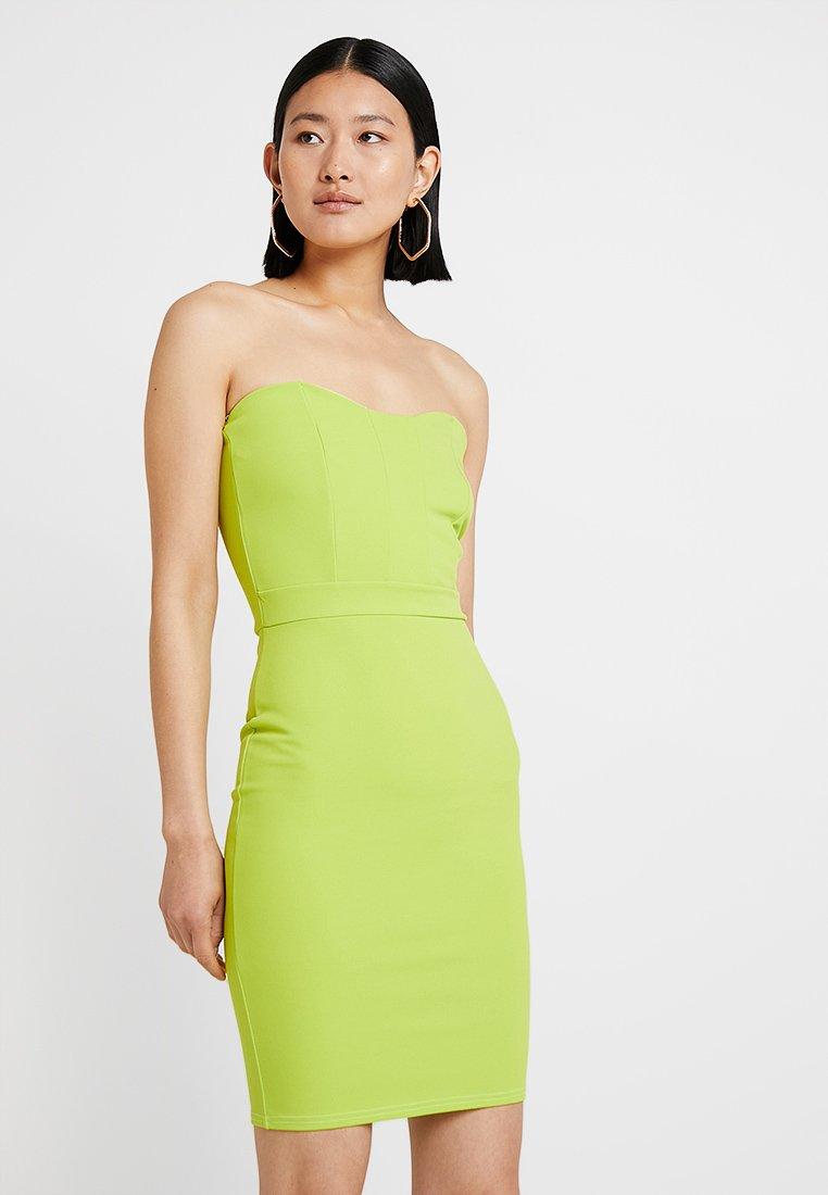 Missguided Tall - BANDEAU MINI DRESS - Jerseykleid - lime