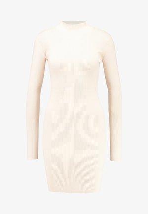 BASIC HIGH NECK LONG SLEEVE DRESS - Shift dress - pink tint