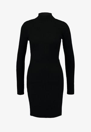 BASIC HIGH NECK LONG SLEEVE DRESS - Robe fourreau - black