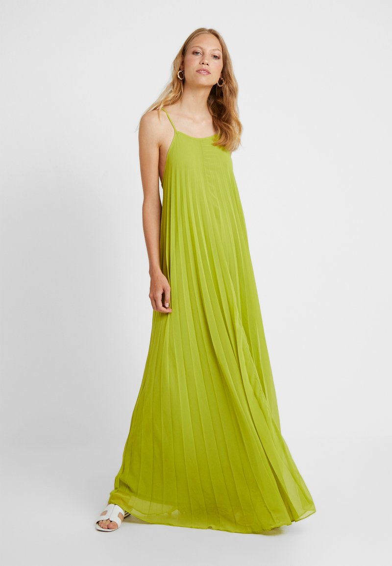 Missguided Tall - STRAPPY PLEATED DRESS - Robe longue - acid lime