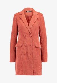 Missguided Tall - BUTTONED BLAZER DRESS - Košilové šaty - coral - 5