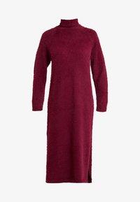 Missguided Tall - FLUFFY MIDAXI DRESS - Długa sukienka - burgundey - 5