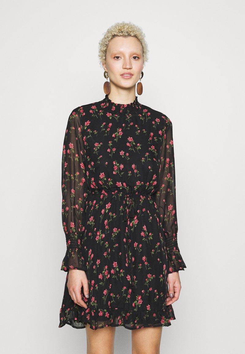 Missguided Tall - SPACE PRINT DRAWSTRING WAIST MINI DRESS - Day dress - multi-coloured