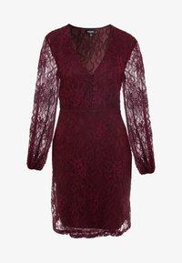 Missguided Tall - PLUNGE BUTTON FLARE DRESS - Juhlamekko - plum - 5