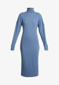 Missguided Tall - ROLL NECK MIDI DRESS - Robe en jersey - blue - 3