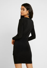 Missguided Tall - SLINKY PLUNGE WRAP RUCHED MINI DRESS - Kjole - black - 3