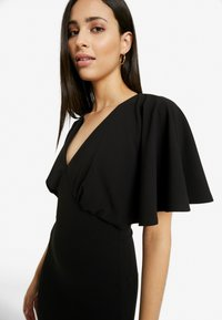Missguided Tall - BRIDESMAID SLEEVE FISHTAIL MAXI DRESS - Festklänning - black - 5
