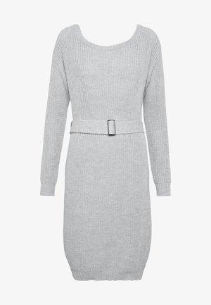 BELTED MINI DRESS - Jumper dress - grey