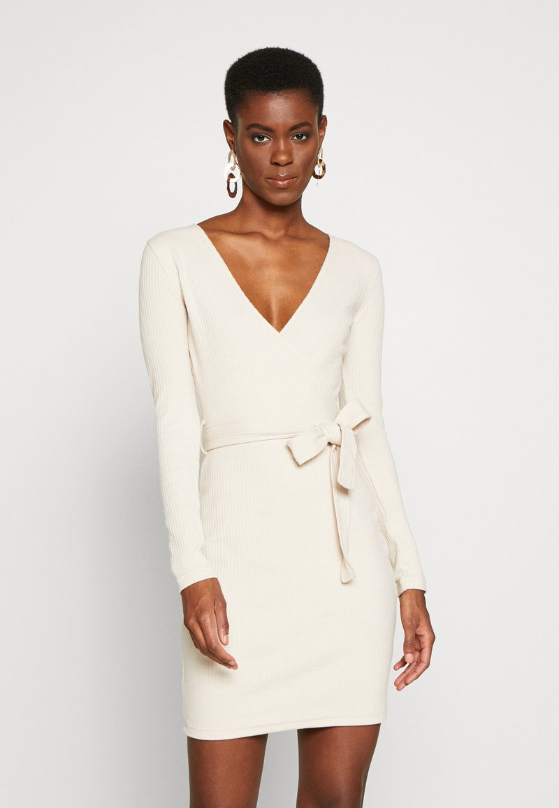Missguided Tall - WRAP TIE BELT MINI DRESS - Robe fourreau - as per sample