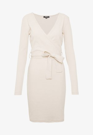 WRAP TIE BELT MINI DRESS - Robe fourreau - as per sample