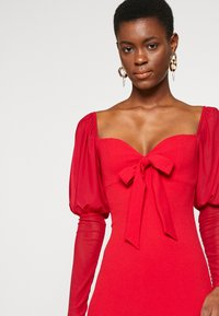 Missguided Tall - MESH PUFF SLEEVE BOW MIDI DRESS - Cocktailkjole - red - 4