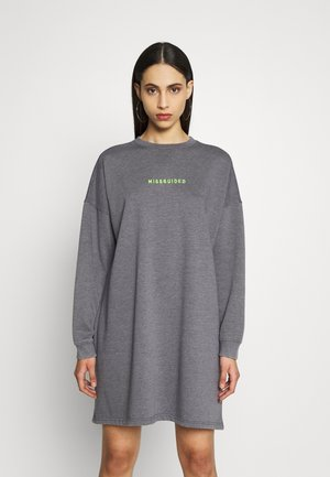 OVERSIZED SWEATER DRESS WASHED  - Korte jurk - charcoal