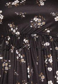 Missguided Tall - FLORAL FRILL WAIST DRESS - Kjole - black - 4
