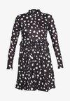 DALMATION FRILL WAIST DRESS - Kjole - black