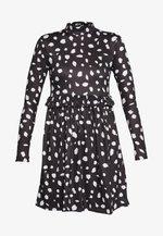 DALMATION FRILL WAIST DRESS - Vapaa-ajan mekko - black