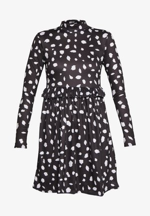 DALMATION FRILL WAIST DRESS - Sukienka letnia - black
