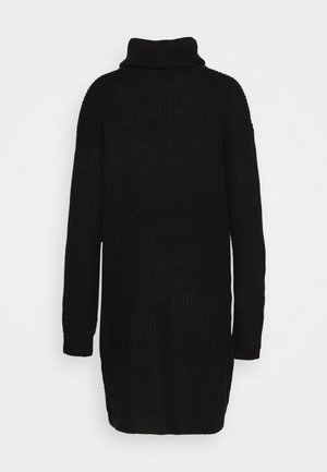 ROLL NECK BASIC DRESS - Strikket kjole - black