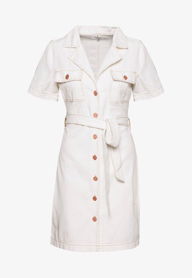 CONTRAST STITCH DRESS - Spijkerjurk - white