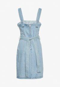 Missguided Tall - ZIP UP DRESS WITH BUMBAG - Vestido informal - denim blue - 1