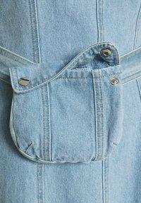 Missguided Tall - ZIP UP DRESS WITH BUMBAG - Vestido informal - denim blue - 2