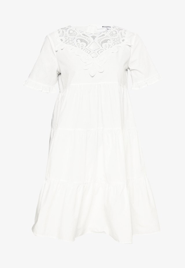 POPLIN SMOCK DRESS - Sukienka letnia - white