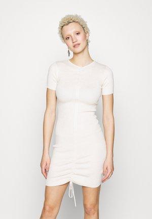 ROUCHED DRESS - Etui-jurk - cream