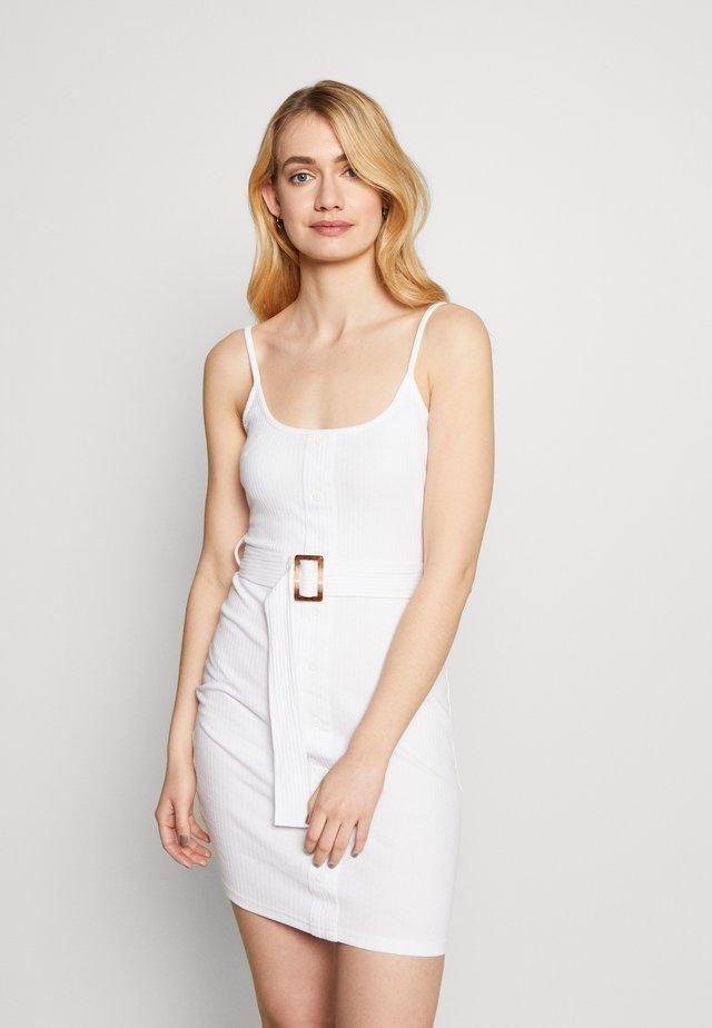 BELTED CAMI DRESS - Korte jurk - white