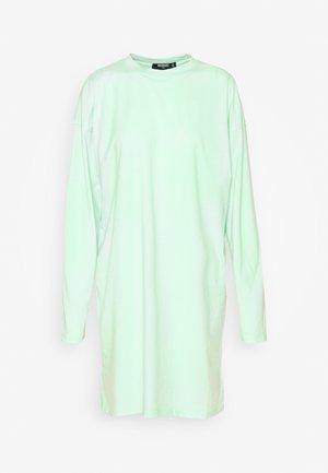 OVERSIZED LONG SLEEVE T SHIRT DRESS - Jerseykjole - mint