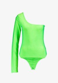 Missguided Tall - SLINKY ONE SHOULDER - Långärmad tröja - neon lime - 4