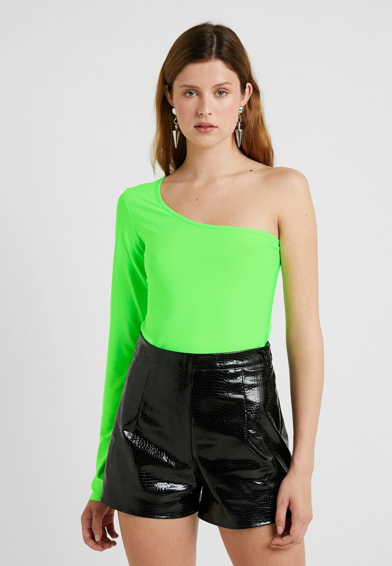 Missguided Tall - SLINKY ONE SHOULDER - Langarmshirt - neon lime