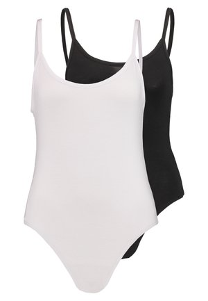 CAMI BODYSUIT 2 PACK  - Linne - black/white
