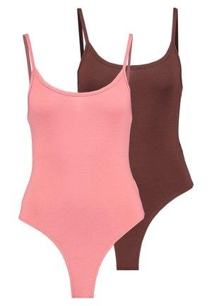 CAMI BODYSUIT 2 PACK  - Top - pink/chocolate