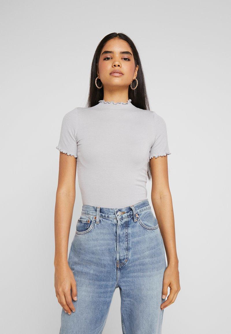Missguided Tall - LETTUCE HEM 2 PACK - Basic T-shirt - grey/black