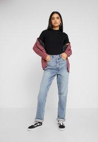 Missguided Tall - LETTUCE HEM 2 PACK - Basic T-shirt - grey/black - 1
