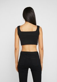 Missguided Tall - CAMI BUCKLE CROP - Top - black - 2
