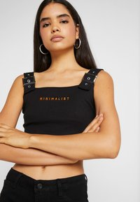 Missguided Tall - CAMI BUCKLE CROP - Top - black - 4