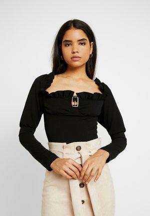 MILKMAID SNAKE BUCKLE BODYSUIT - Long sleeved top - black