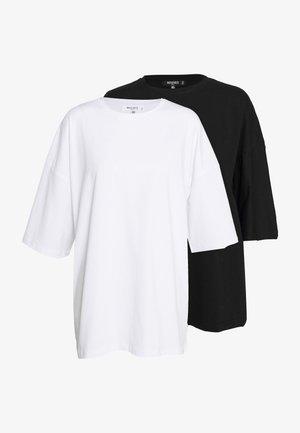 DROP SHOULDER OVERSIZED 2 PACK - T-shirt basic - black/white