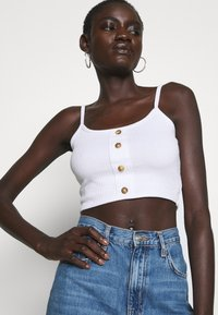 Missguided Tall - BUTTON DOWN CROP CAMI 2 PACK  - Top - white/toffee - 6