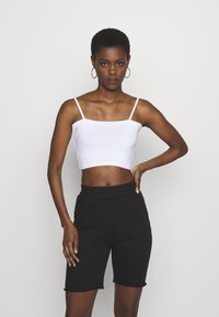 Missguided Tall - BASIC STRAPPY CROP 2 PACK - Débardeur - white/black - 4