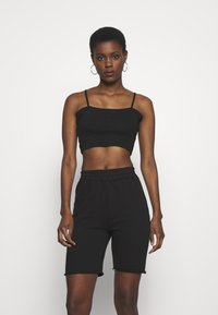 Missguided Tall - BASIC STRAPPY CROP 2 PACK - Débardeur - white/black - 2