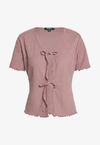 Missguided Tall - TIE FRONT CROP - T-shirt basic - sepia rose - 0