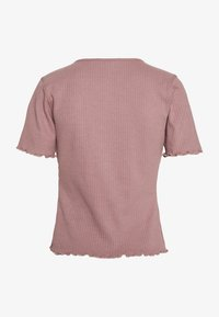 Missguided Tall - TIE FRONT CROP - Basic T-shirt - sepia rose - 1