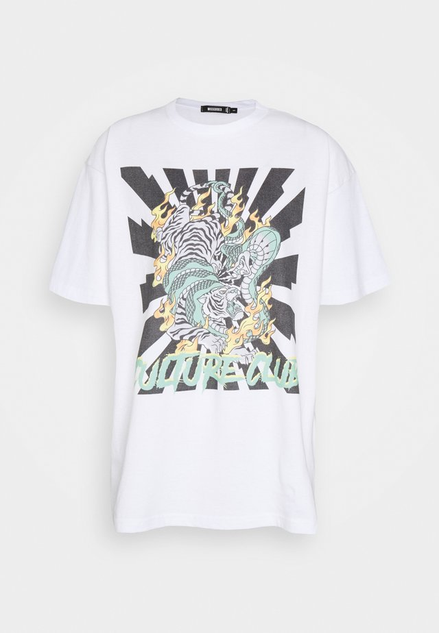 DRAGON GRAPHIC - Print T-shirt - white