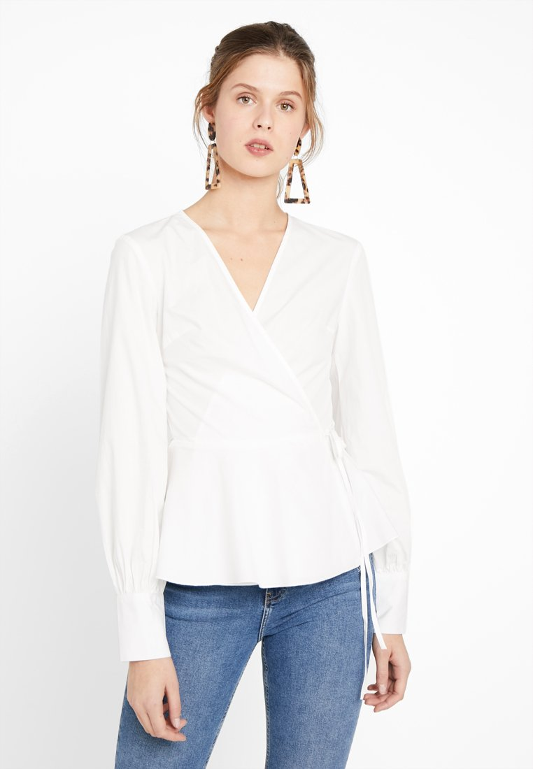 Missguided Tall - TIE SIDE BLOUSE - Blouse - white