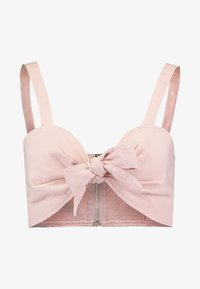 Missguided Tall - TIE FRONT BRALET - Blouse - pink - 4