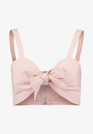 TIE FRONT BRALET - Blouse - pink