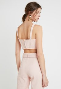 Missguided Tall - TIE FRONT BRALET - Blouse - pink - 2