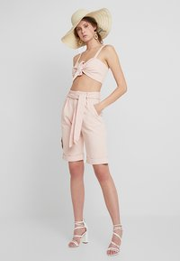 Missguided Tall - TIE FRONT BRALET - Blouse - pink - 1