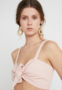 Missguided Tall - TIE FRONT BRALET - Blouse - pink - 3